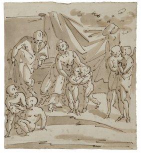 "Luca Cambiaso (1527-1585) ""sacra Famiglia E"