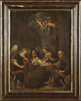 """Scuola Italiana """"sacra Famiglia Con Due Angeli"""""""
