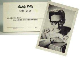 Buddy Holly Fan Club Card & Photo