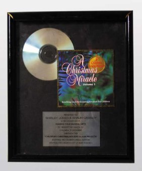 Shirley Jones And Shaun Cassidy Award Plaque