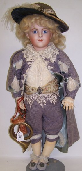 ***BISQUE HEAD BOY DOLL
