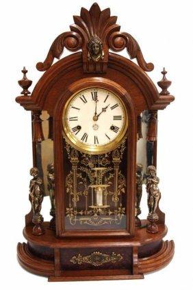 Antique New Haven Clock Co Occidental Shelf Clock Lot 90