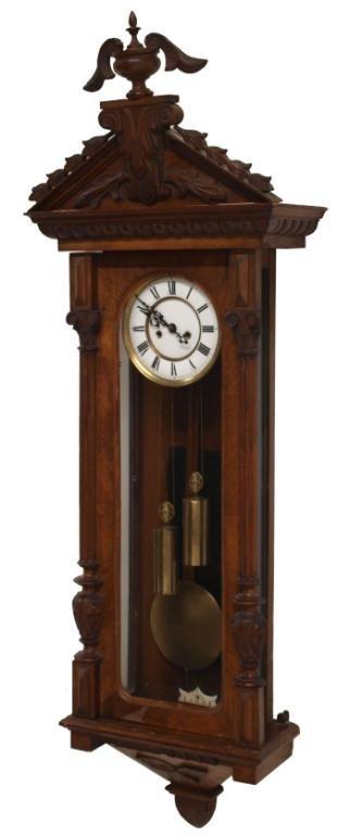 Gustav Becker Double Weight Wall Clock Lot 817