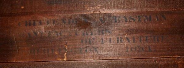 Chittenden Amp Eastman Iowa Cylinder Roll Bookcase Lot 831