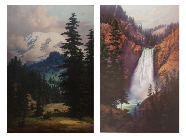 953 2 Large Special Edition Signed Windberg Prints Lot 953