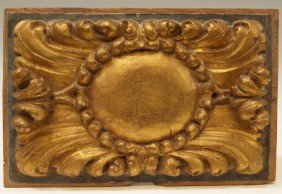 18TH C SPAIN GILT CARVED WOOD ARCHITECTURAL PANEL