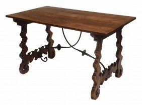 SPANISH BAROQUE STYLE LIBRARY TABLE