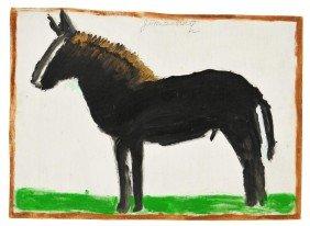 FOLK ART PAINTING, JIMMIE LEE SUDDUTH, 1910-2007