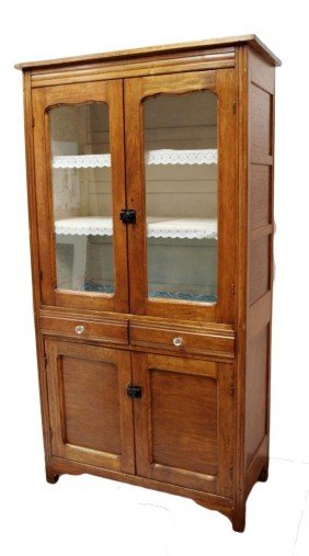 AMERICAN KITCHEN CABINET, PUNCHED SIDE PANELS