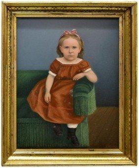 FRAMED PHOTO OF A GIRL, ALBERT FARENBERG, C. 1877