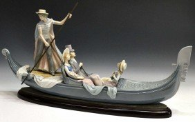 MONUMENTAL LLADRO 'IN THE GONDOLA' #1350
