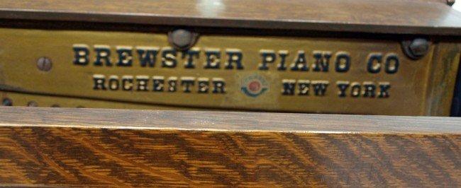 351 Oak Cased Brewster Player Piano 1921 Lot 351