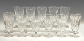(13) WATERFORD CUT CRYSTAL 'LISMORE' GLASSES
