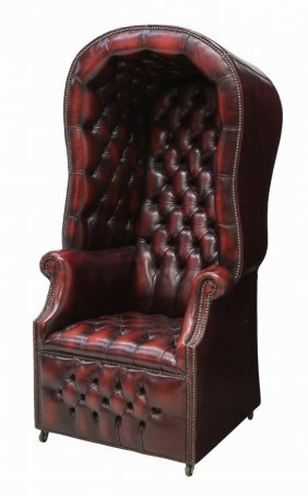 British chesterfield buttoned leather porter chair lot 285 for M furniture gallery new orleans