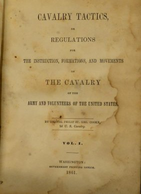 Civil War Book Cavalry Tactics 1861 Ohio C Lot 494