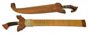 (2) Philippines Kris & Barong, Edged Weapons