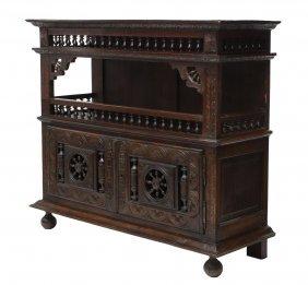 French Breton Hall Cabinet, 19th C.