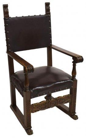 Large Italian Renaissance Revival Arm Chair