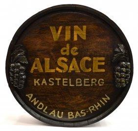Vin De Alsace Wine Barrel Wall Decoration