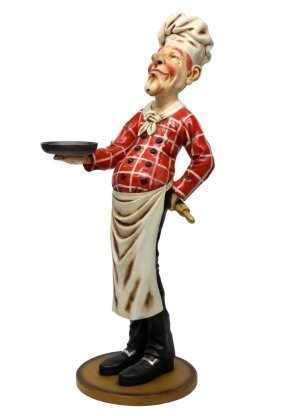 Contemporary Life Size Standing Figure, Chef