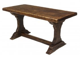 French Antique Single Board Top Dining Table