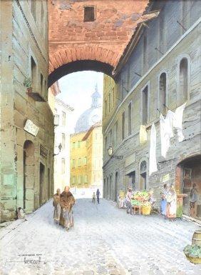Luis Amendolla (mexico, 1939-2000) Watercolor