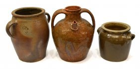 (3) Group Of French Earthenware Jugs & Jars