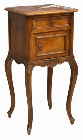 French Louis Xv Style Walnut Bedside Cabinet