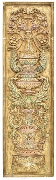 Decorative Gilt & Distressed Wall Panel