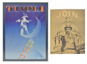(2) Tivoli Poster By Hentac & Anti-war Poster