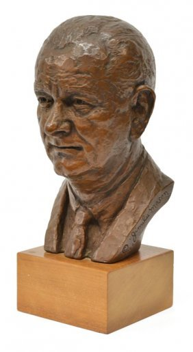 Jimilu Mason (20th C.) Lyndon B. Johnson Bust