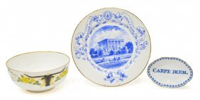 (3) Collection Texas State History Porcelain