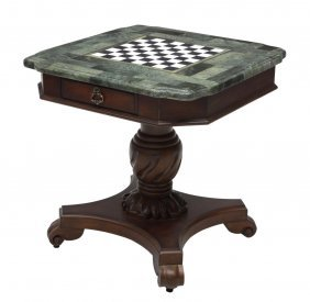 Hooker Furniture Green Marble Top Games Table
