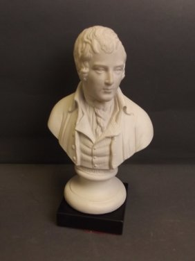 A Carved And Moulded Stone Bust Of Robbie Burns 8 190