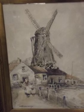 Victor Noble Rainbird, 'old Mill Belgium', Signed