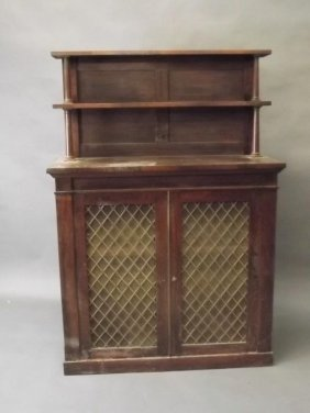 A Regency Rosewood Chiffonier, The Upper Section With