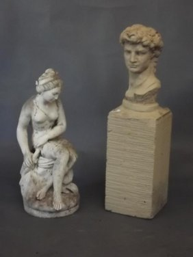 A Reconstituted Stone Figure Of Venus, And Another Of A