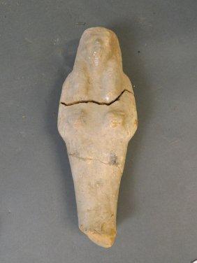 "An Egyptian Terracotta Shabti, 10"" Long (af)"