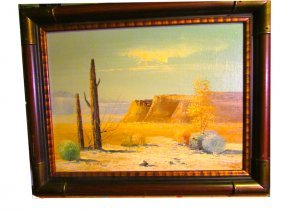 Vintage Original Oil On Canvas Southwestern Art Tony