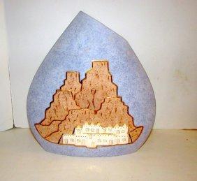 Southwestern Art Pottery 22k Gold Leaf Pillow Vase