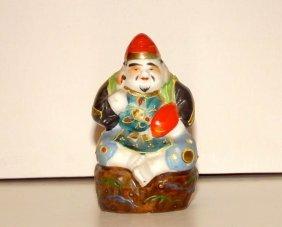 Vintage Kutani Figurine. Lucky Ebisu