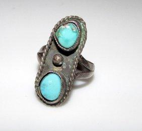 Vintage Old Pawn Navajo Sterling Ring 6