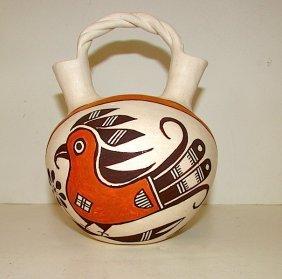 Vintage Acoma Pueblo Pottery Collector Wedding Vase