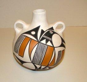 Vintage Acoma Pueblo Water Jug Pottery