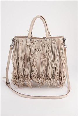 saffiano lux tote bag mini - Prada Cervo Fringe Leather Tote Bag : Lot 1007