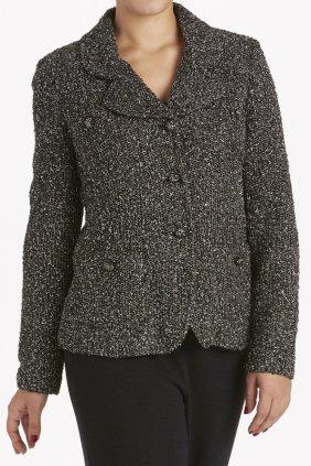 St John Knits Black Novelty Knit Jacket (8)