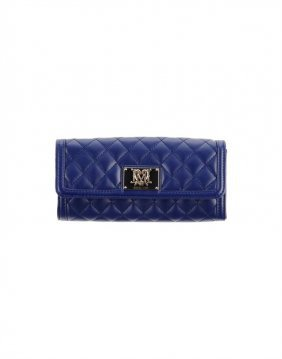 New Love Moschino Navy Super Quilted Deluxe Wallet