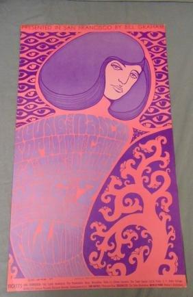 1967 The Doors BG44 Fillmore Concert Poster