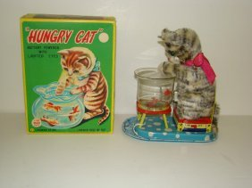 BOXED LINEMAR BATTERY OPERATED HUNGRY CAT