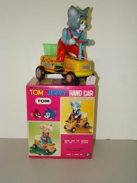 BOXED MODERN TOYS TOM & JERRY HANDCAR